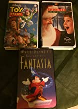 Movie Set Bundle From Walt Disney World Collection - Masterpiece FANTASIA with Mickey Sorcerer , Toy Story 1 I and Miracle On 34th Street [VHS]