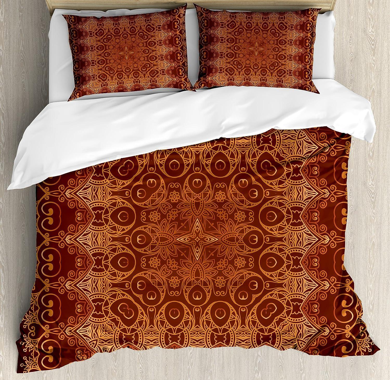 Ambesonne Antique service Duvet Cover Set Vintage Lacy Sale Pattern Persian