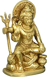 Figurines and Statues Shiva Brass Religious Gifts 4.5 Inches