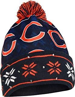 Chicago Bears Exclusive Busy Block Printed Light Up Beanie