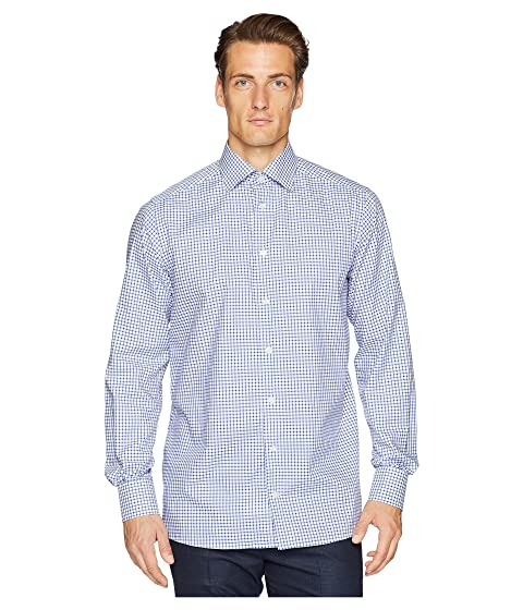 Eton Contemporary Fit Stretch Grid Check Shirt