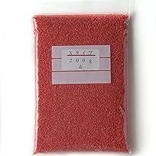 カラーサンド 200g 赤(12) 粗粒(1mm程度の粒) Nタイプ #日本製
