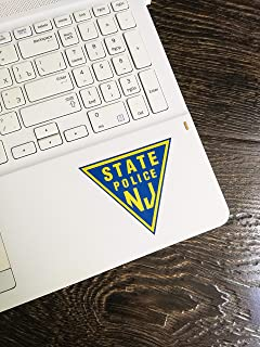 New Jersey State Police Wall Art | 6 - Sizes Vinyl Laptop Sticker Poster | New Jersey State Police Window Decal