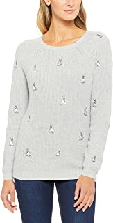 French Connection Women's Bunny Embroidered Knit, Multicolored (