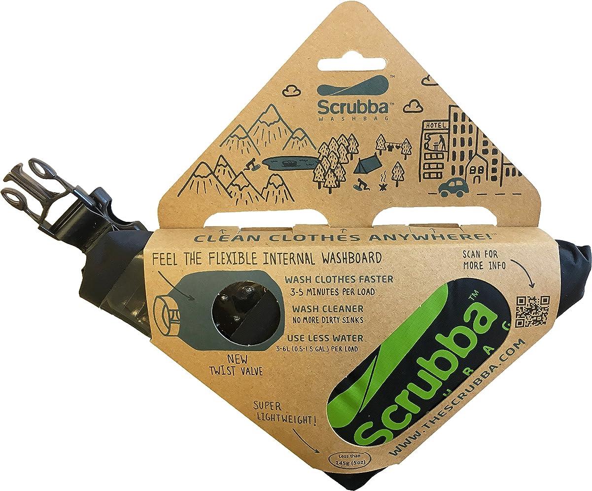 財布銃スーツ旅行用洗濯袋 Scrubba Washbag スクラバ ウォッシュバッグ 便利トラベルグッズ キャンプ 携帯用洗濯袋 (ウォッシュバッグ, 緑) (緑, ウォッシュバッグ)