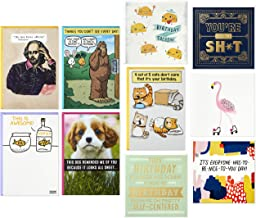 Hallmark Funny Birthday Cards Assortment—Cats, Puppies, Sasquatch, You're The Sht (Pack of 10 Cards with Envelopes)