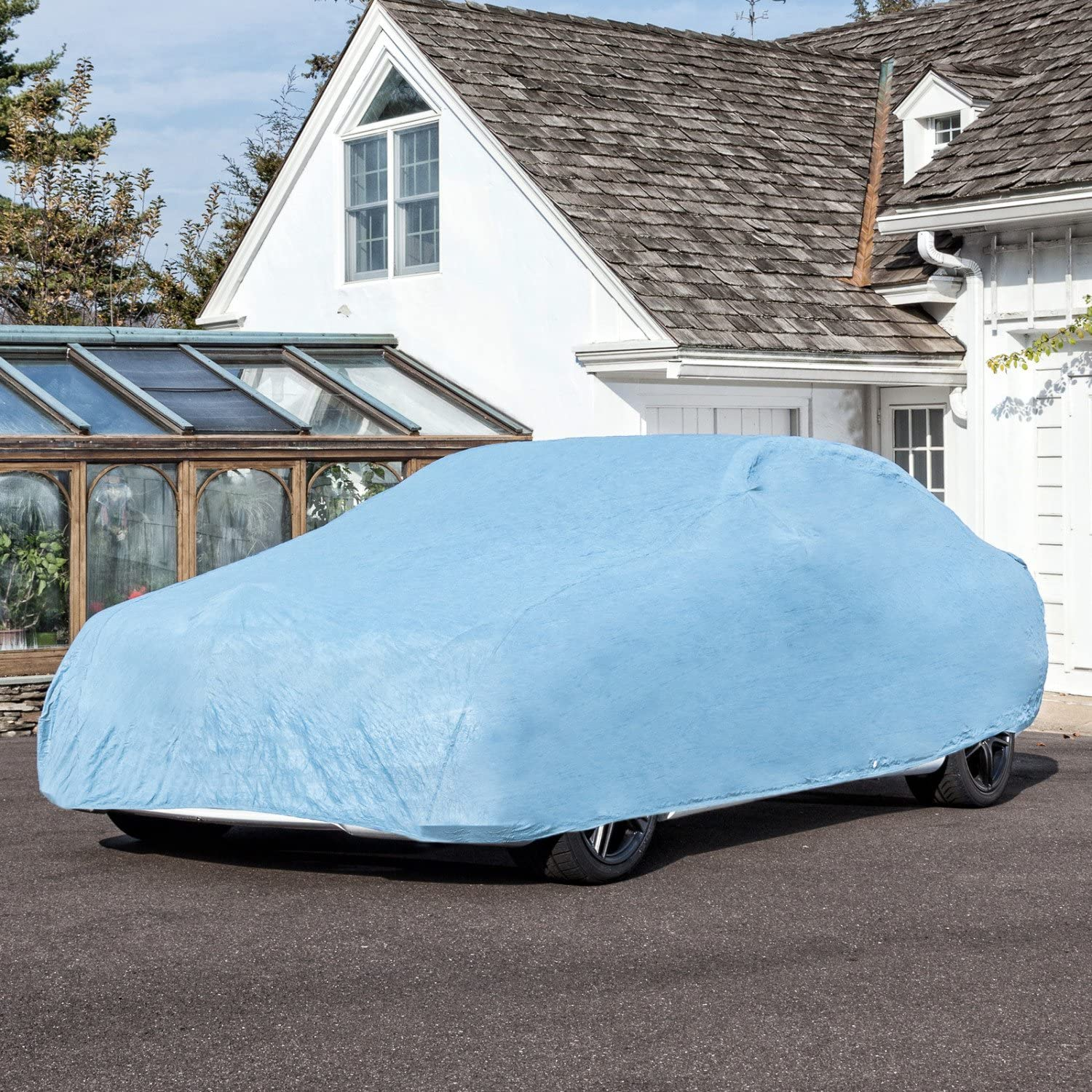 DHB-1 Polypropylene, Blue Budge Duro Hatchback Car Cover Fits Hatchback Cars up to 161 inches