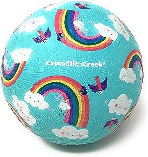 "Crocodile Creek - Rainbow Dreams - Rubber Playground Ball, 7"", Blue"
