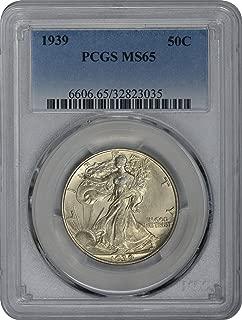 1939-P Walking Liberty Half Dollar, MS65, PCGS
