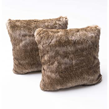 Christopher Knight Home Elise Fabric Pillows with Polyester Fiber Fill, 2-Pcs Set, Dark Brown