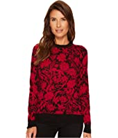 MICHAEL Michael Kors - Garden Galore Print Sweater Top