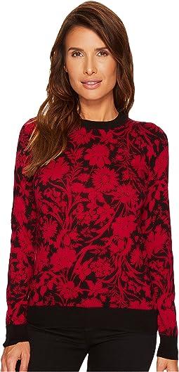 MICHAEL Michael Kors - Garden Galore Print Sweater Top