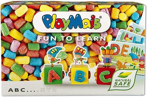 PlayMais Fun to Learn ABC Jeu de Construction pour Les Enfants de 3 Ans et Plus I kit de Bricolage avec 500 pièces I ...