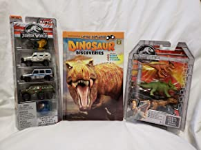 Jurassic World Learn and Play Bundle - 5 pc. Matchbox Island Transport Team Cars, 3 pc. Mini Dino Set and Smithsonian Little Explorer Series Dinosaur Discovery Book with Poster and Stickers