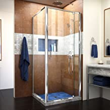 DreamLine Flex 30 1/2 in. D x 28-32 in. W x 72 in. H Semi-Frameless Pivot Shower Enclosure in Chrome, SHDR-2230300-RT-01