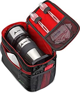 AdirChef Grab N Go Travel Pouch - Multi-Compartment for Mult-Storage Use, Perfectly Designed for AdirChef Personal Coffee Maker for Travelling, Outdoor, On the Go & Camping (Red)