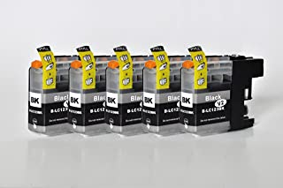 Printing Saver LC-123/LC-125 Pack de 5 Negro Cartuchos de Tinta compatibles para Brother DCP-J132W DCP-J152W DCP-J552DW DCP-J4110DW MFC-J470DW MFC-J4410DW MFC-J4510DW MFC-J4610DW MFC-J6520DW J6920DW