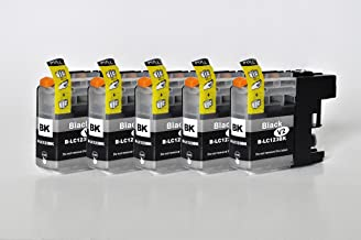 Printing Saver LC-123/LC-125 pack of 5 BLACK compatible ink cartridges for BROTHER DCP-J132W DCP-J152W DCP-J552DW DCP-J4110DW MFC-J470DW MFC-J4410DW MFC-J4510DW MFC-J4610DW MFC-J6520DW MFC-J6920DW