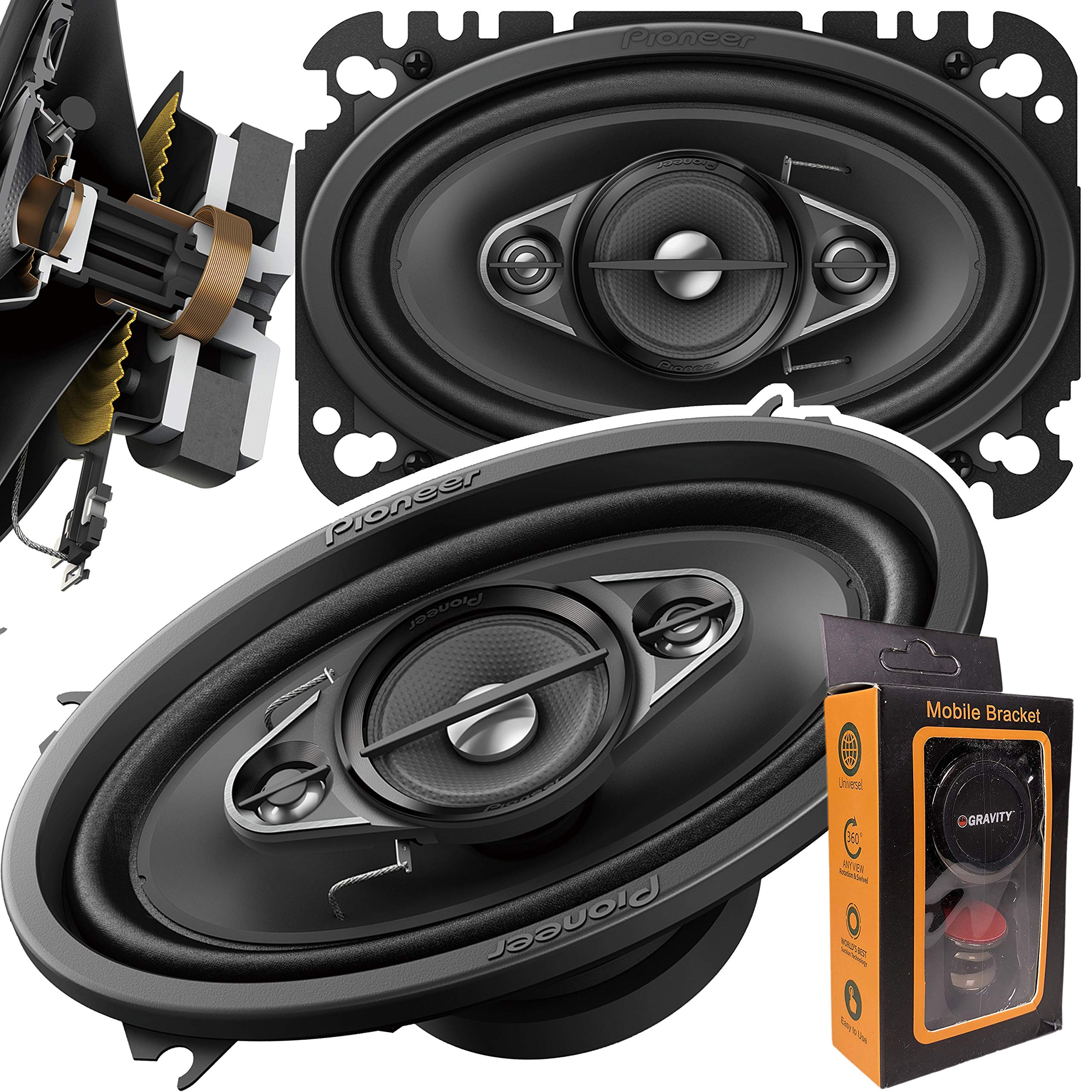 Pioneer TS A4670F 4 Way Coaxial Speakers