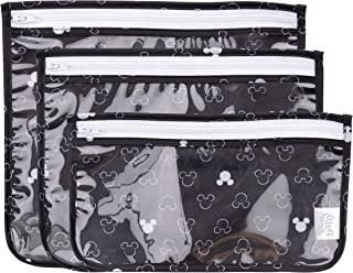 Bumkins TSA Approved Toiletry Bag, Disney Travel Bag, Quart Zip Pouch, PVC-Free, Vinyl-Free, Clear Sided, Set of 3 – Micke...