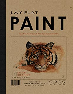 "Design Ideation Lay Flat : Removable Sheet Pad. Multi-Media Paper Watercolor Pad for Pencil, Ink, Marker, Charcoal and Watercolor Paints. Great for Art, Design and Education. (8.5"" x 11"") (2)"