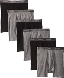Hanes Ultimate Men's 6-Pack FreshIQ Blue Label Boxer with ComfortFlex Waistband Brief