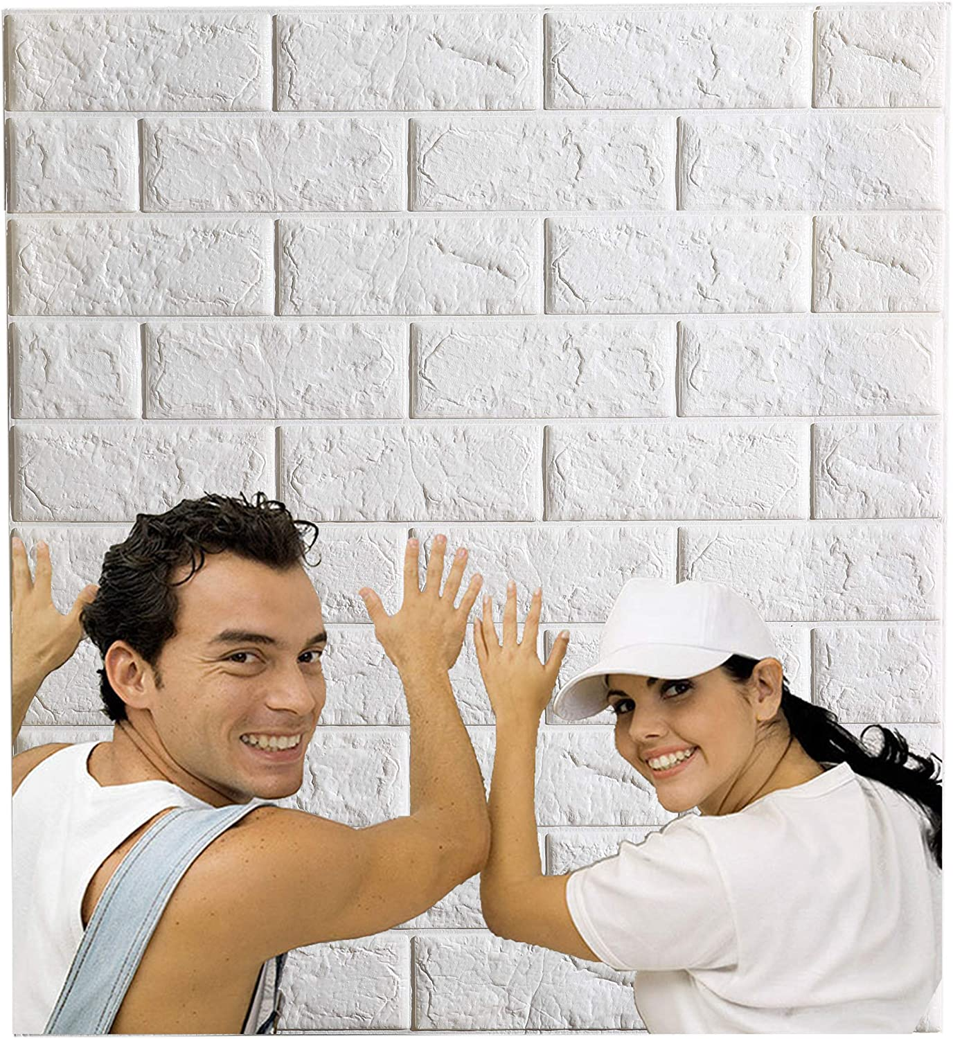 Arthome White Brick 3D service Wall Panels and Stick Wallpaper Peel for Cheap