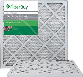 FilterBuy 20x20x1 MERV 8 Pleated AC Furnace Air Filter, (Pack of 2 Filters), 20x20x1 � Silver