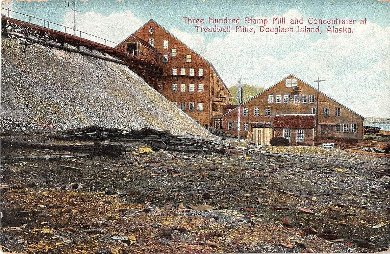 Douglass Island Alaska OFFicial store Three Hundred Stamp Max 56% OFF Postcard Antique Mill