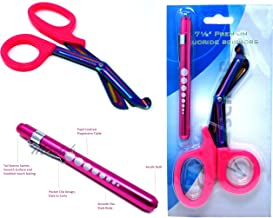 Heavy Duty Reusable Penlight + Fluoride Coated Nurse Doctor Medical Paramedic Trauma Shears Scissors 7.25