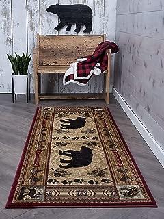 Universal Rugs Black Bear Runner Rug, 2'7'' x 7'3'', Brown