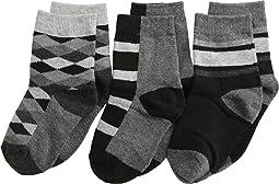 Argyle Stripe Crew Socks 3 Pack (Toddler/Little Kid/Big Kid)