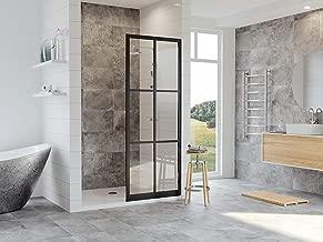 Coastal Shower Doors GSFD1P40.75O-C Gridscape Full Divided-Light Shower Screen, 40 X 75, Black
