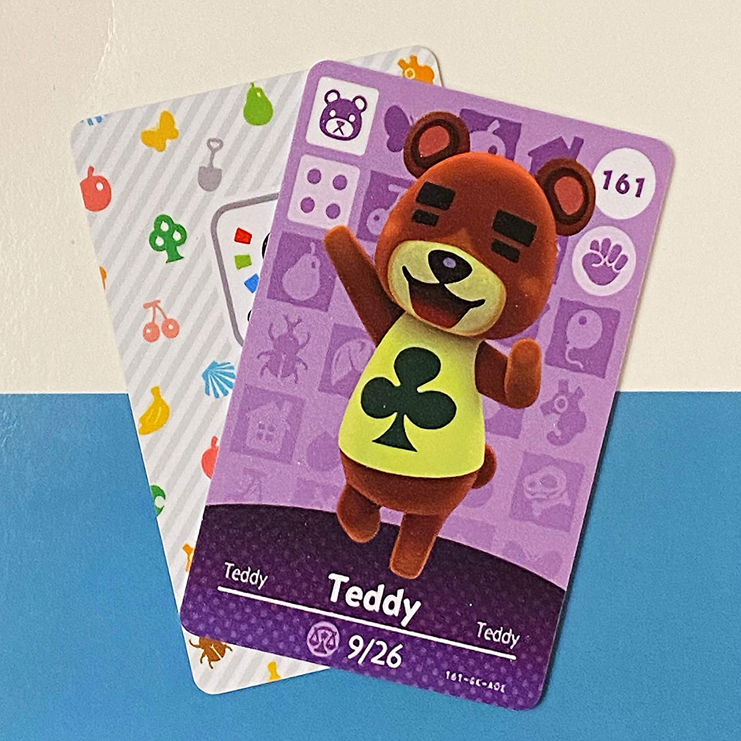 No.161 Teddy ACNH Animal Houston Translated Mall Villager Party NFC Fan Card Made.Third