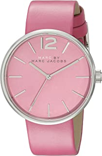 Marc Jacobs Womens Quartz Watch, Analog Display and Leather Strap MBM1363