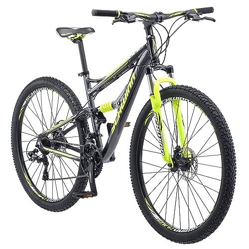 f7824e263bd Schwinn Traxion Full Dual-Suspension Mountain Bike, Featuring  18-Inch/Medium Aluminum