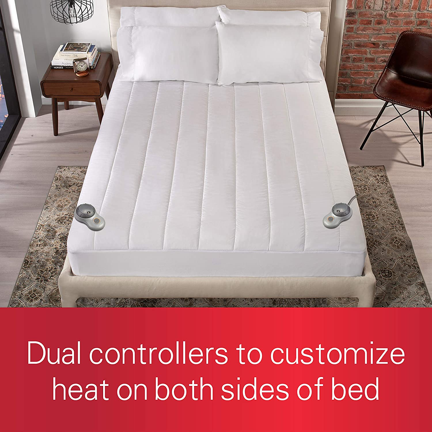 Sunbeam Heated Mattress Pad   Quilted Polyester, 10 Heat Settings, White,Queen - MSU3GQS-P000-12A00: Home & Kitchen