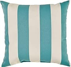 Stone & Beam Classic Outdoor Throw Pillow, 20 x 20, Light Blue