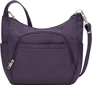 Anti-Theft Cross-Body Bucket Bag, Purple, 14