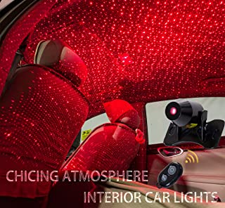 CHICING USB 100mw Laser Atmosphere Ambient Star led Glow The interiors Multiple Modes Lights for car/Home/Party 1234