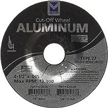 "Mercer Industries 27 型切割轮,适用于铝和其他有色金属。 4-1/2"" x .045 x 7/8"" 633020"