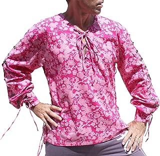 Raan Pah Muang RaanPahMuang 浅棉复兴衬衫中世纪纽扣袖混合艺术