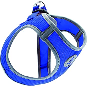 Kruz Reflective Dual Layered Mesh Dog Harness - KZA306 - Heavy Duty, No Pull, Easy Fit - Comfortable, Adjustable, Lightweight, Breathable Vest - Walking, Training, Running - Small, Medium, Large Dogs