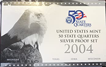 2004 S US Mint Silver Quarter Proof Set Comes in Original Packaging Proof