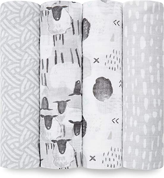 Aden By Aden Anais Swaddle Blanket Muslin Blankets For Girls Boys Baby Receiving Swaddles Ideal Newborn Gifts Unisex Infant Shower Items Toddler Gift Wearable Swaddling Set Pasture