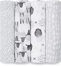 Aden by aden + anais Swaddle Blanket, Muslin Blankets for Girls & Boys, Baby Receiving Swaddles, Ideal Newborn Gifts, Unis...
