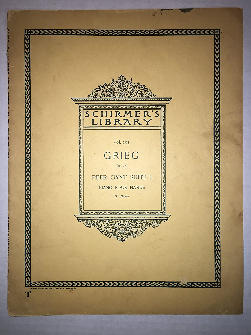 Grieg Op. 46 Peer Gynt Suite No. 1 (For Piano, Shirmer's Library of Musical Classics)