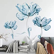 DERUN TRADING Wall Stickers & Murals Home Décor Home Décor Accents for Living Room Flower Wall Decals Home Improvement Pai...