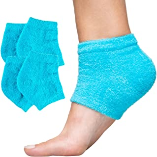 ZenToes Moisturizing Heel Socks 2 Pairs Gel Lined Toeless Spa Socks to Heal and Treat Dry, Cracked Heels Wh...