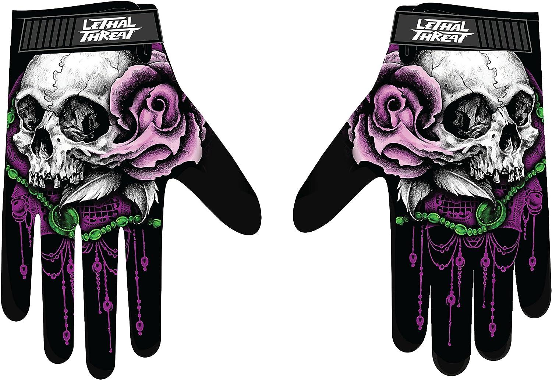Lethal Threat Women's Gloves (La Floral Skull Women's)(,), 1 Pack